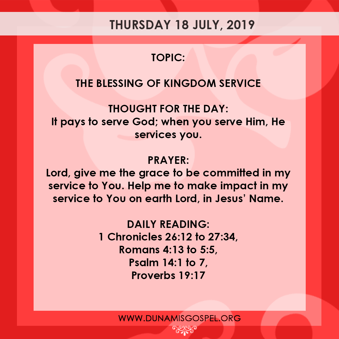Seeds of Destiny 18 July 2019, Seeds of Destiny 18 July 2019 – The Blessing of Kingdom Service