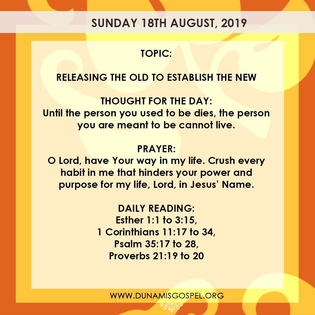 Seeds of Destiny 18 August 2019, Seeds of Destiny 18 August 2019 – Releasing The Old To Establish The New