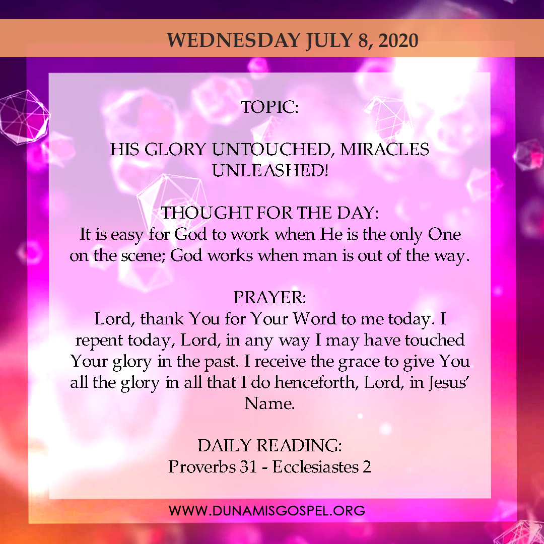 Seeds of Destiny 8 July 2020 - His Glory Untouched, Miracles Unleashed